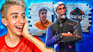 HACKER GIVES ME GRAFFITI OF MY FACE AND CUSTOM SKIN IN FORTNITE!!