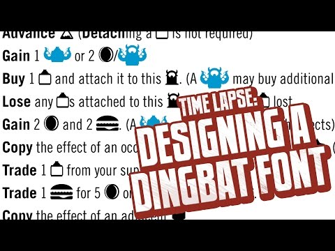 Designing a Custom Dingbat Icon Font for Chimera Station [Time Lapse]
