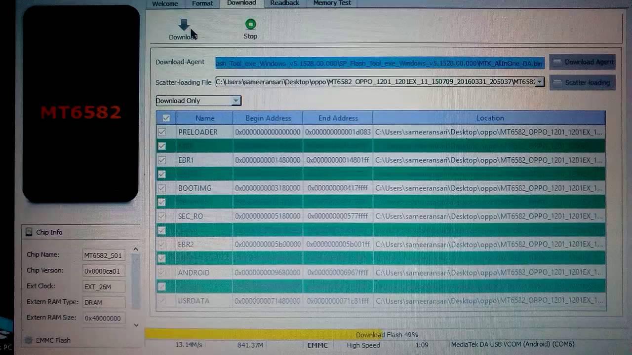 Oppo neo5 (1201) firmware update