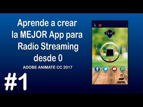 Crear la MEJOR APP para RADIO STREAMING 2017 desde 0 (Adobe Animate cc 2017) 1-5