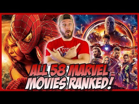 All 58 Marvel Movies Ranked Worst to Best!  (Supercut Edition)