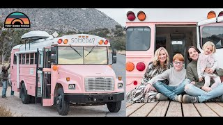 Family Of 4 Lives & Travels Full-time In Bus Crossing Adventures Off Their Bucket List