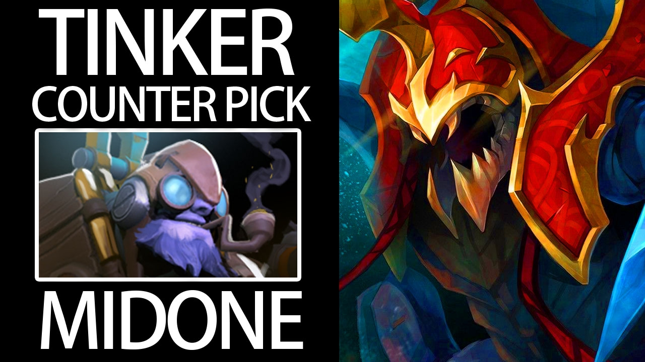 Counter Pick Tinker With NYX MIDONE Pro Offlane Gameplay 7
