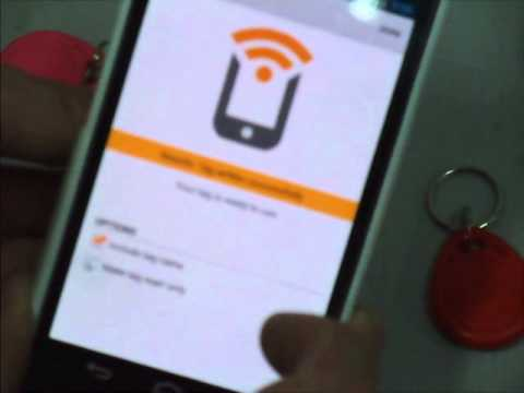 NFC TASK Launcher Test With Android Tag, Wifi Mode