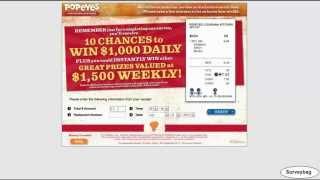 www.tellpopeyes.com Popeyes survey video by Surveybag