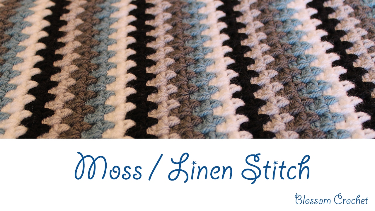 b7c24ddb52c7d Simple Crochet Moss   Linen Stitch Tutorial - YouTube