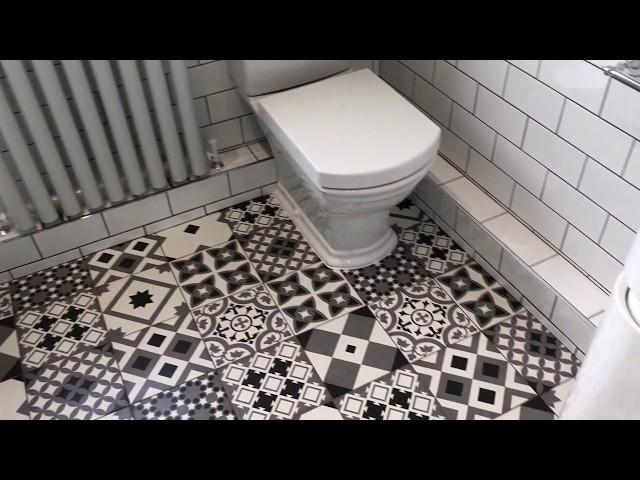 Traditional bathroom with a modern twist
