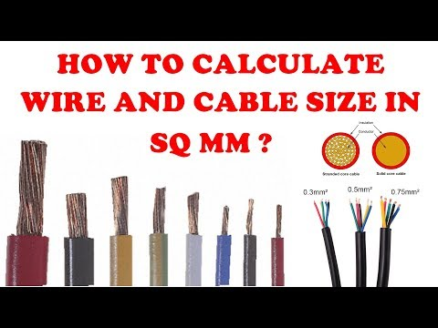 How to calculate the wire size (sq mm) | Explained In Tamil