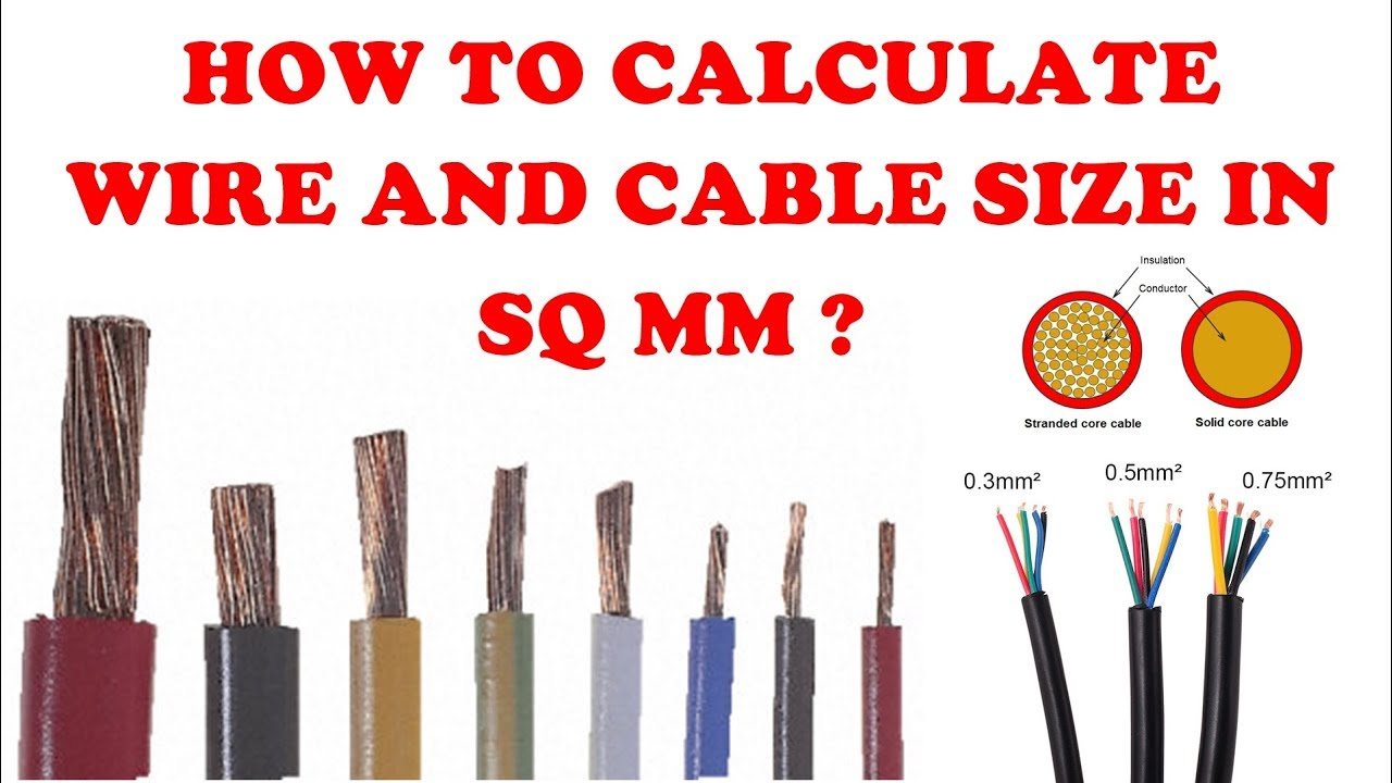 How to calculate the wire size sq mm explained in tamil electrical pattarai also youtube rh