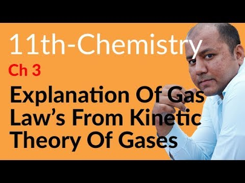 FSC Part 1 Chemistry Lecture,Explanation Gas Laws Kinetic Theory Gases-Che book 1 Ch 3 Gases