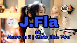 10 lagu cover by J.Fla || Maroon 5 Girls Like You