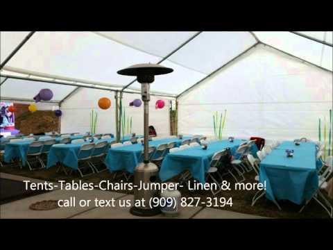 Tables and Chairs Rentals-Fontana,CA- Party Jumper Rentals- Ten Rental- Table Linen & more!