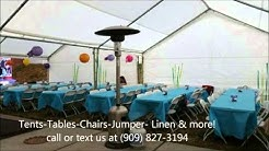 Tables and Chairs Rentals-Fontana,CA- Party Jumper Rentals- Ten Rental- Table Linen & more!