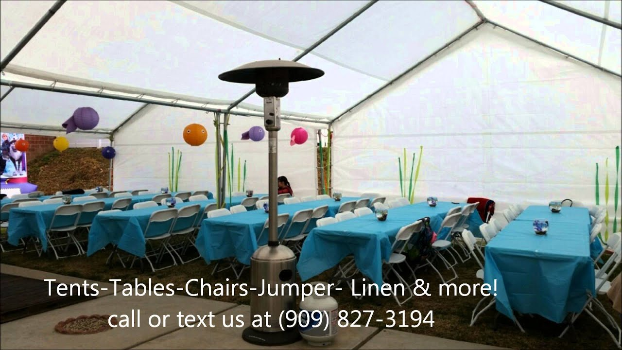Tables and Chairs Rentals Fontana CA Party Jumper Rentals Ten