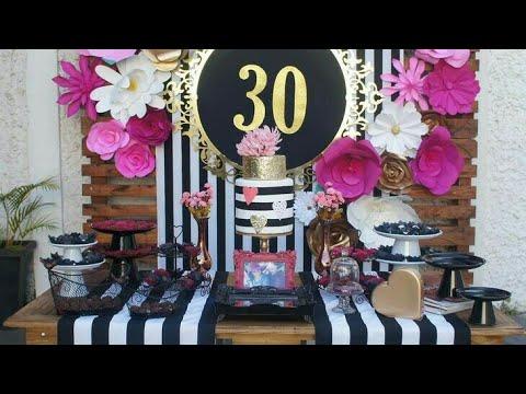 Fiesta 30 a os party 30 birthday girl chic felices 30 for Decoracion 60 30 10