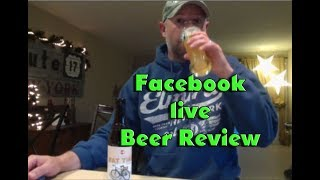 New Belgium Fat Tire Belgian White Facebook Live -- Beer Review