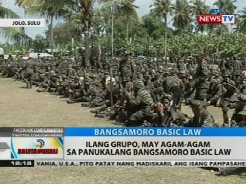 BT: Ilang grupo, may agam-agam sa panukalang Bangsamoro Basic Law