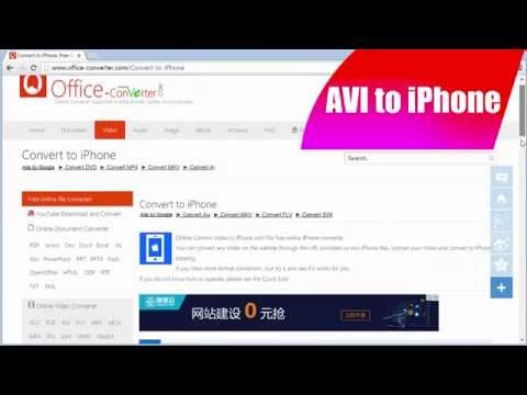 How to Convert AVI to iPhone using Office-Converter.com