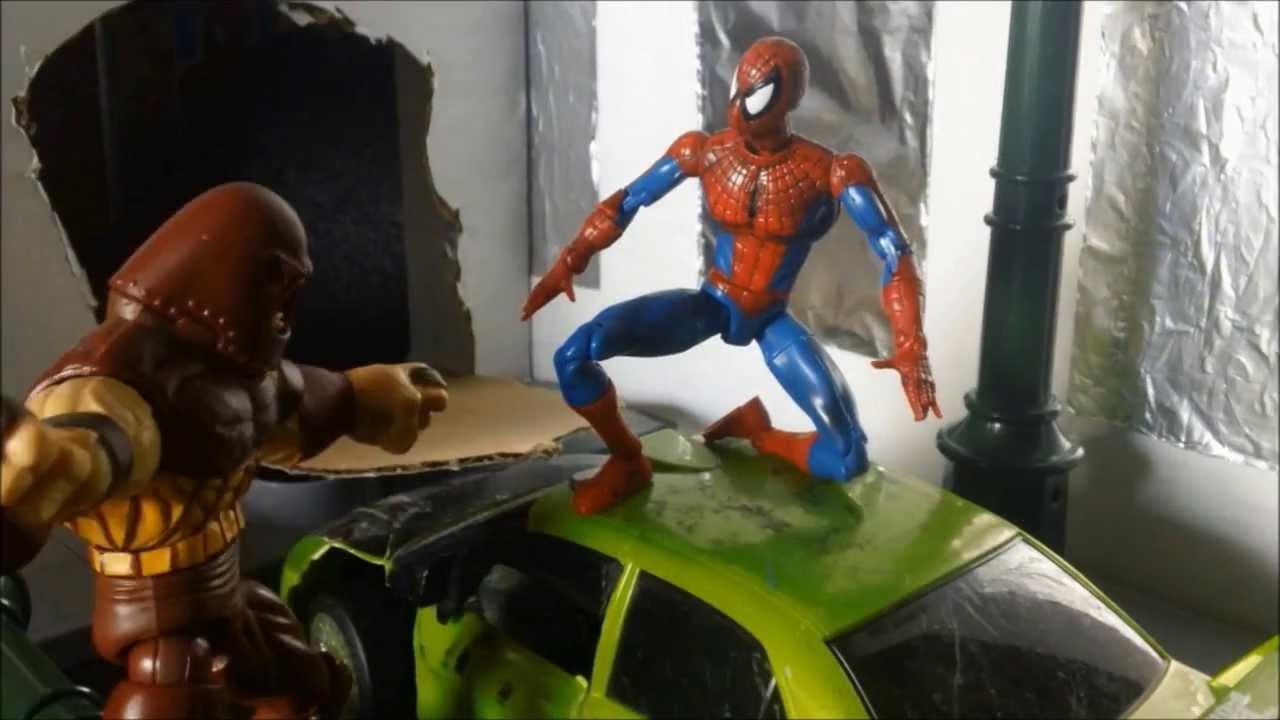 Red Hulk Vs Trion Juggernaut: Spider-Man & Hulk Vs. Juggernaut Stop Motion