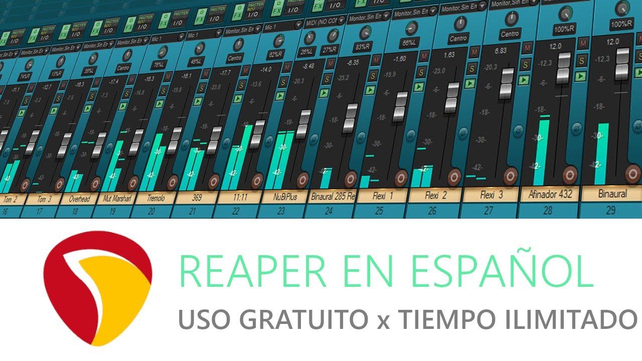 Reaper 6 Uso Gratuito Por Tiempo Ilimitado Al 100 2020