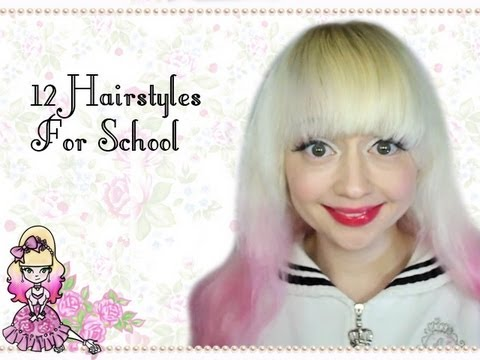 quicken easy hairstyles for school 12 easy hairstyles for school violet lebeaux