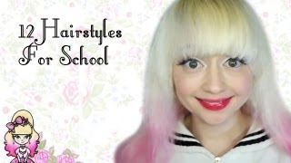 12 Easy Hairstyles For School - Violet LeBeaux