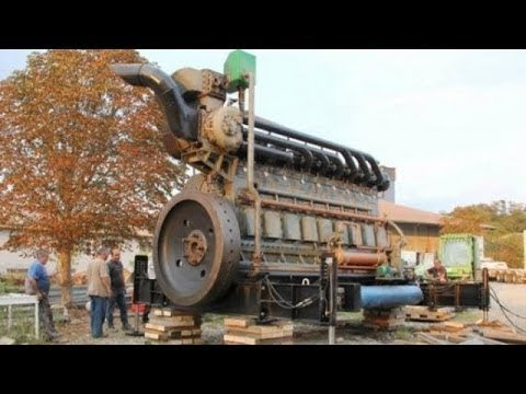 Cold/Old Diesel Engines Starting Up (2017)