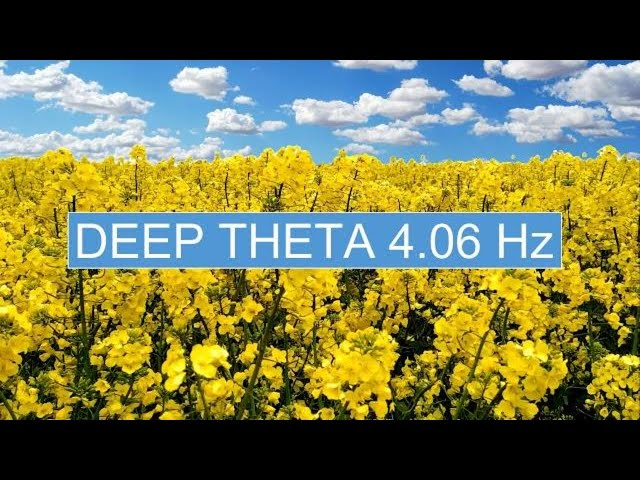 Deep Theta Binaural Beats  [4.06 hz]  1 Hr. of Total Relaxation from Stress, Worries & Overthinking