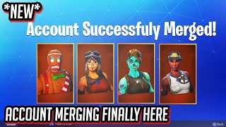 ACCOUNT MERGING FINALLY in Fortnite! Get Rare SKINS + VBUCKS from any account