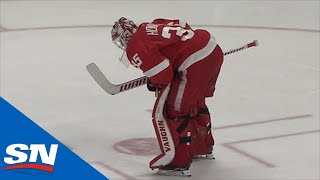 Jimmy Howard Gets Hurt And John Tavares Scores While Play Continues