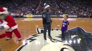 Crunch The Wolf gives Kings fan PS4 then takes it back.