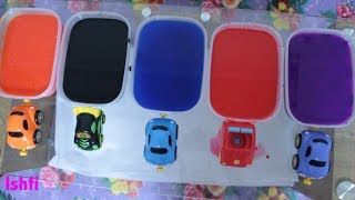 Learn Colors with Toy Cars and Paint from Rufi Ishfi