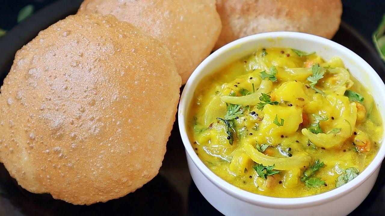 సరైన కొలతలతో పూరి ఆలు కర్రీ👉హోటల్ లో తిన్న టేస్ట్ రావాలంటే ఇలాచేయండి😋😋👌| Puffy Poori with Aloo Curry