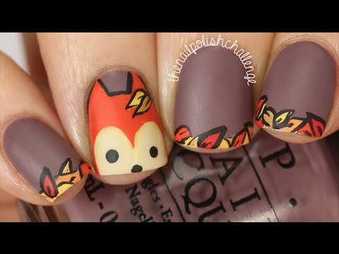 Inspired Autumn Fox Nail Art Tutorial || KELLI MARISSA ...