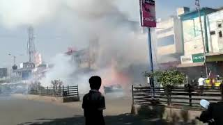 FIRE AT FIRECRACKERS SHOP HUGE AMOUNT OF DAMAGE