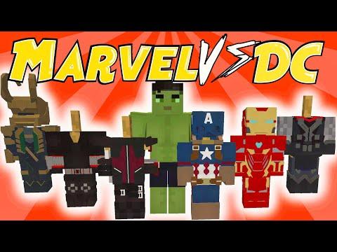 Minecraft Superhero Mod - Marvel vs DC (Marvel Showcase)