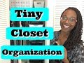 Small Closet Organization! | Apartment Storage Idea