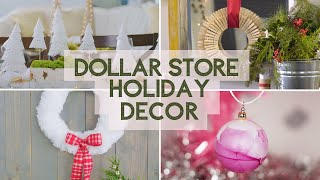 Holiday Decor DIYs...All from the Dollar Store!