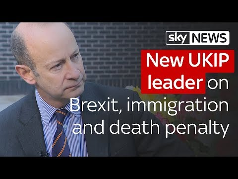 UKIP's new leader on Brexit, immigration and the death penalty