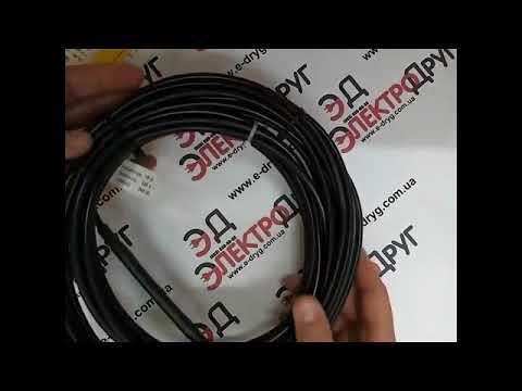 Как крепить (обжать) углеродистый нагревательный шнур - YouTube