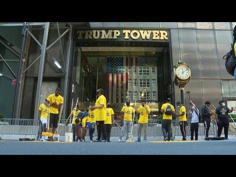 AFP: Une fresque Black Lives Matter au pied de la tour Trump à New York | AFP