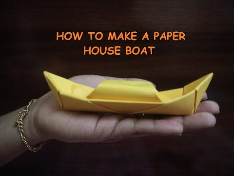 DIY#HOW TO MAKE PAPER BOAT#HOUSE BOAT#PAPER CRAFT#