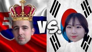 LANGUAGE CHALLENGE: SLOVAKIA VS. SOUTH KOREA PART 1/2 /W KAILEY