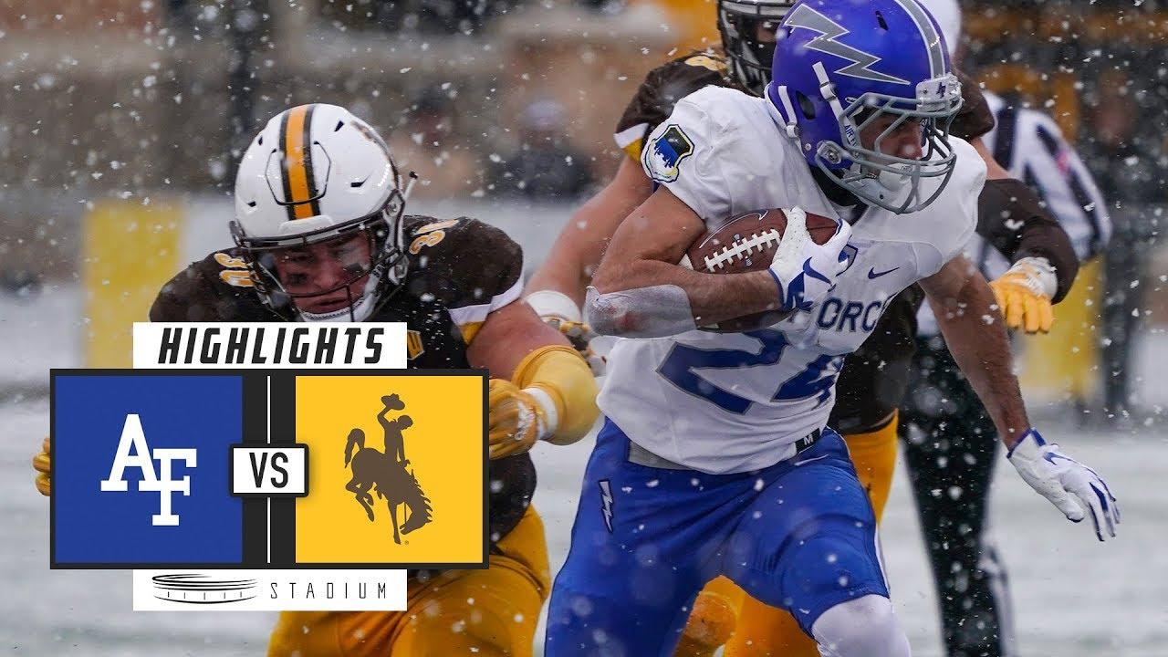 Air Force vs. Wyoming Football Highlights (2018) | Stadium ...