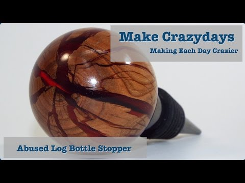 Abused Log Bottle Stopper
