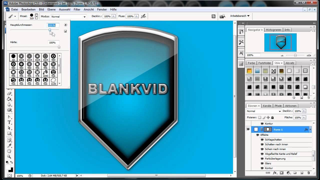 bm wappenemblemschild erstellen  photoshop tutorial