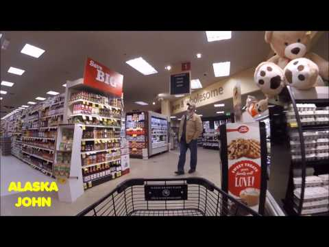 ALASKA SHOPPING - Carrs Safeway Grocery Store - December 17th 2016