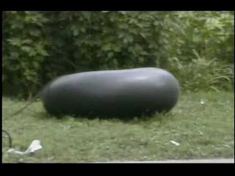 Blowing up a inner tube!!!