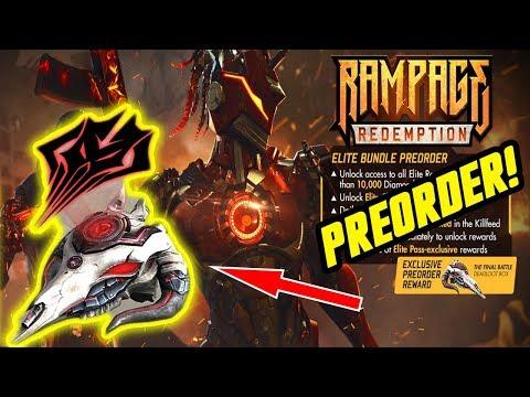 New Elite Pass Preorder Season 13 Rampage Redemption Garena