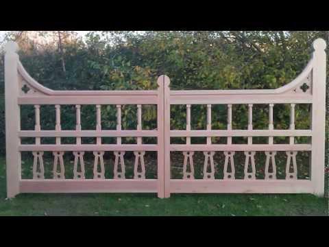 Bespoke wooden gates - Victorian style
